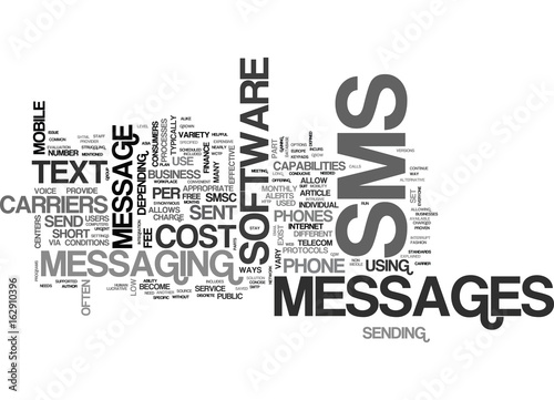 Photo WHAT IS SMS TEXT WORD CLOUD CONCEPT