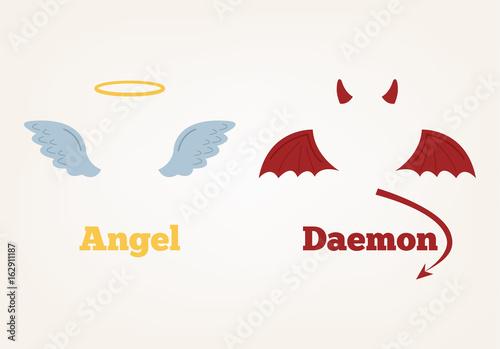 Carta da parati Angel and devil suit elements