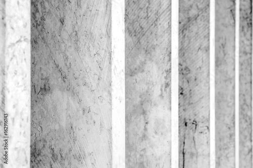 Zdjęcie XXL Szczegół czarny i biały ściana - Pasiasty tło