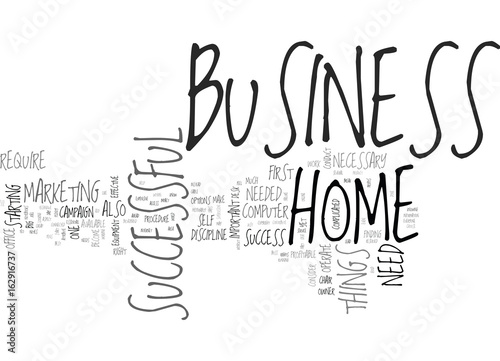 WHAT YOU NEED FOR A SUCCESSFUL HOME BUSINESS TEXT WORD CLOUD CONCEPT Wallpaper Mural