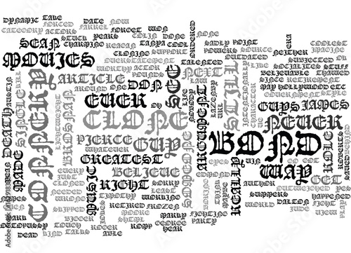 Foto  WHATEVER HAPPENED TO JAMES BOND TEXT WORD CLOUD CONCEPT