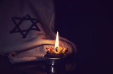 The Star Of David And Candle S...