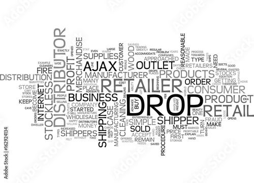 WHO ARE WHOLESALE DROP SHIPPERS TEXT WORD CLOUD CONCEPT Canvas Print