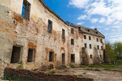Poster Ruine Ruins of the Klevan castle. Ukraine