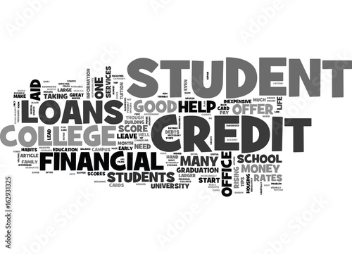 Photo  WHY SHOULD COLLEGE STUDENTS CARE ABOUT THEIR CREDIT SCORE TEXT WORD CLOUD CONCEP