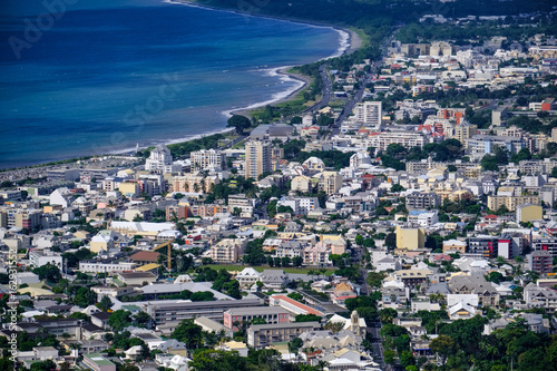 Fotografie, Obraz  Aerial view of Saint Denis of la Reunion
