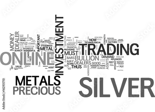 Fotografia  WHY SILVER MAY BE A GOLDEN INVESTMENT FOR TEXT WORD CLOUD CONCEPT