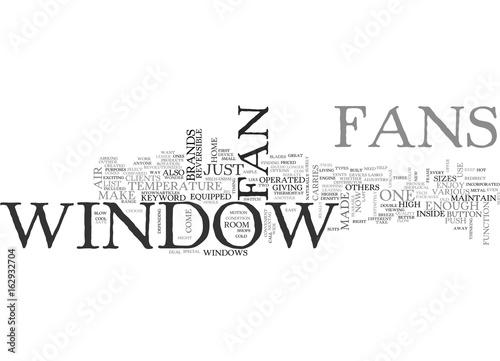 Garden Poster Retro sign WINDOW FAN TEXT WORD CLOUD CONCEPT