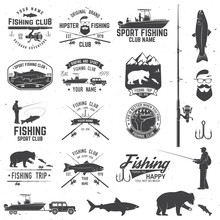 Sport Fishing Club. Vector Ill...