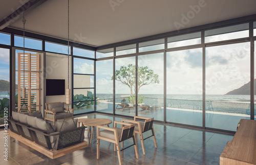 Foto op Aluminium Luchthaven living room of beach house
