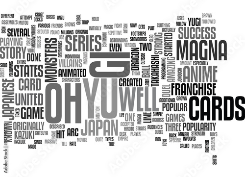 Photo  YU GI OH TEXT WORD CLOUD CONCEPT