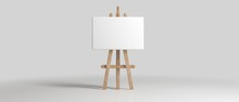 Wooden Brown Sienna Easel With...
