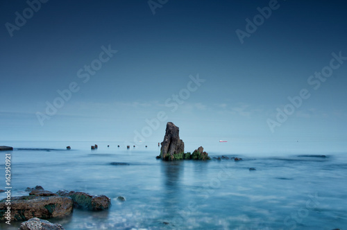 Foto op Aluminium Cathedral Cove Night sea in Chabanka Oessa Ukraine