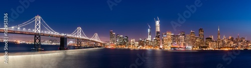 San Francisco Skyline Panoramic Canvas Print