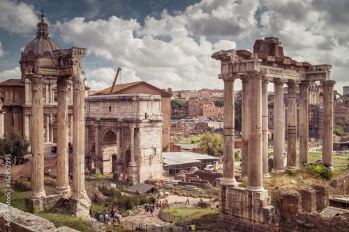 Zdjęcie XXL Ruiny rzymskiego forum w Rzymie, Włochy