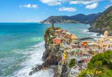 Aerial View Of Vernazza, A Sma...