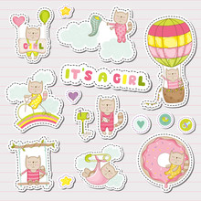 Baby Girl Stickers For Baby Sh...