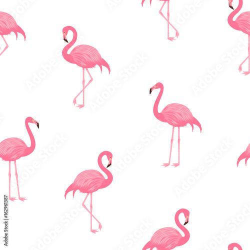 Canvas Prints Flamingo Bird Pink flamingos pattern.