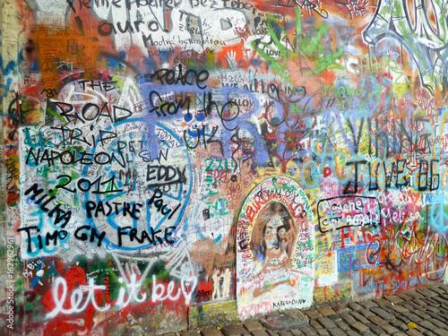 Graffiti prague beatles wall © Jason