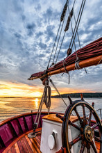 Sunrise At Sea On A Tall Ship ...