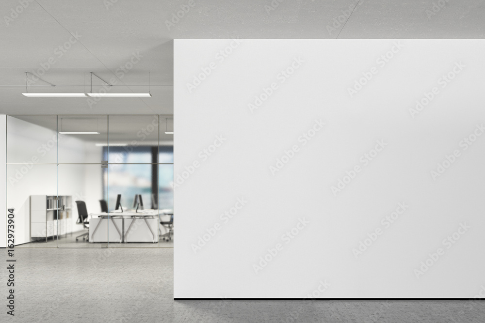 Fototapety, obrazy: Blank wall in modern office