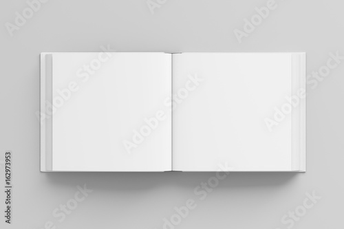 Blank square open book mockup isolated Fototapet