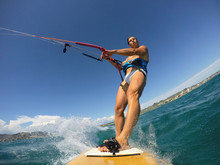 Kite Surf Session View From An...