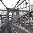 Brooklyn Bridge on white. 3D illustration