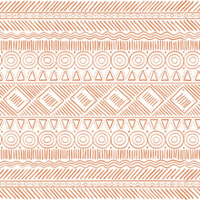 Hand Drawn Tribal Boho Seamless Pattern. Ethnic Geometric Vector Print. Background Texture.