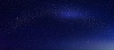 Abstract background is a space with stars nebula.Vector