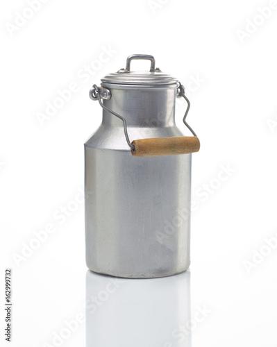 Fotografie, Obraz  Milchkanne und Milchglas