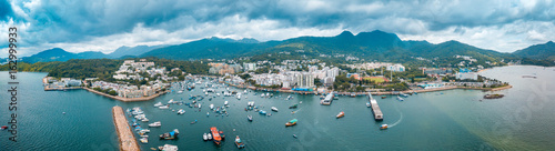 Panoramic aerial view of Sai Kung, Hong Kong. photos taken by DJI Mavic Pro