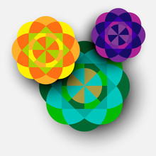 Colorful Kaleidoscope Flowers