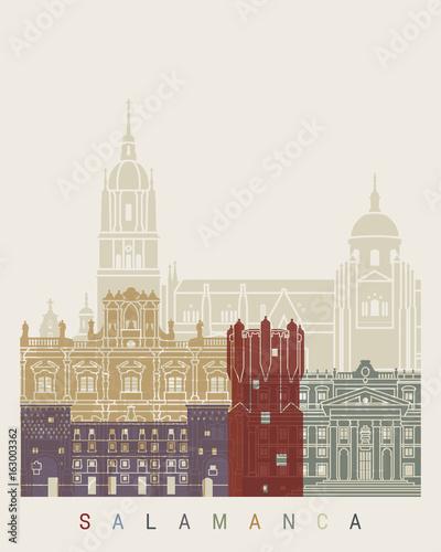 Salamanca skyline poster