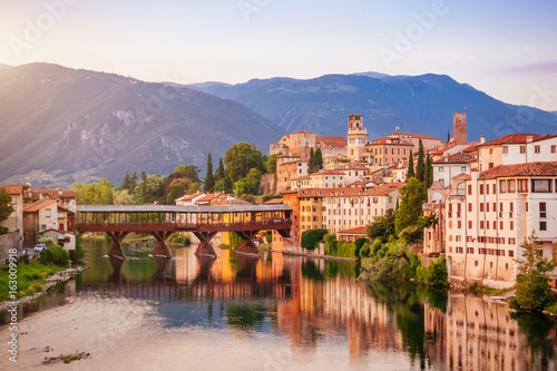 Photo Bassano del Grappa Ponte Vecchio in Veneto Region Northern Italy