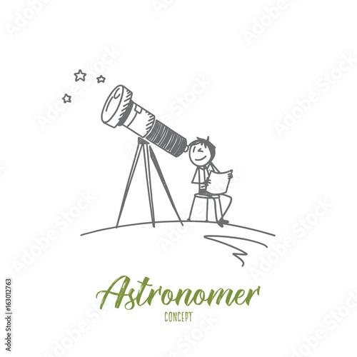 Photo Astronomer concept