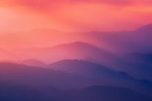 Pattern Of Distant Mountain La...