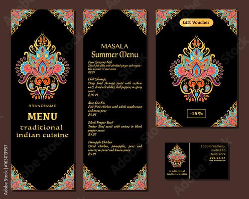 Indian food restaurant menu template food flyer business card restaurant menu template food flyer business card vector reheart Gallery