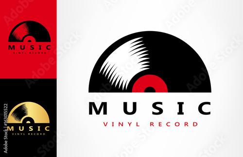 Fotografía  vinyl record logo