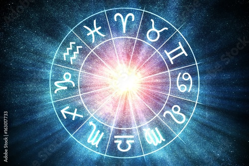 Cuadros en Lienzo Astrology and horoscopes concept