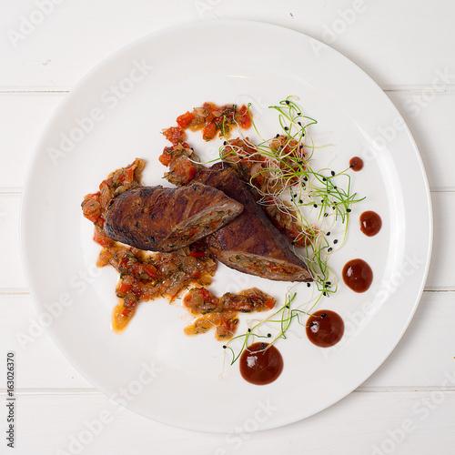 Fotografía  Meatloaf on a plate