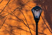A Streetlight On The Backgroun...