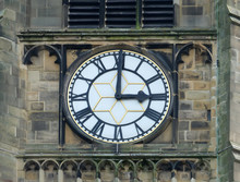 Church Clock White Face With R...