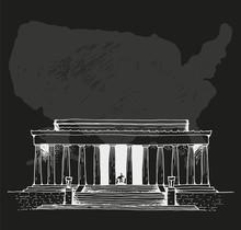 Lincoln Memorial Vector Illustration