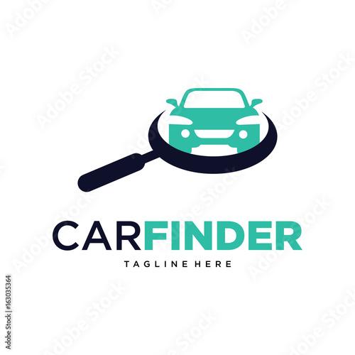 Car Finder Logo Template Design Vector Emblem Design Concept