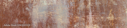 Tuinposter Metal The Texture Of The Old Rusty Metal Plate. HD Panorama.