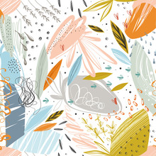 Vector Abstract Seamless Patte...
