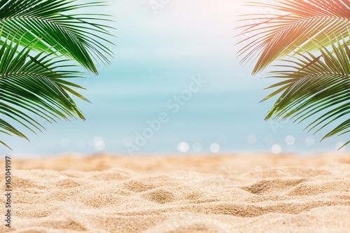 Foto auf Gartenposter Strand Tropical beach background