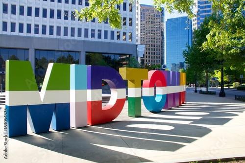 Atlanta midtown sign Canvas Print