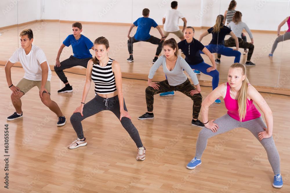 Fototapeta students dancing contemporary